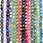 Strand 8mm Faceted Polyhedron Twist Glass Loose Beads DIY Craft Jewelry Findings
