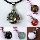 1x Gemstone Jade Agate Hand Ball Divination Reiki Healing Pendant For Necklace