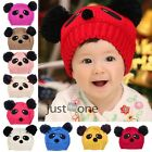 Christmas Gift for Baby Kids Lovely Panda Hat Caps Crochet Beanie Warm Winter