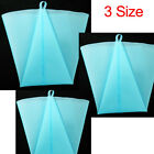 Set 3 Sizes Silicone Cake Piping Bag Icing Cream Pastry Cookies Decor Reusable