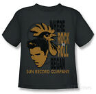 Youth: Elvis Presley - Elvis And Rooster T-Shirt Charcoal