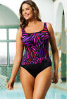 "LONGITUDE Plus Size ""Hot Rod"" Side Sash Swimsuit, *NWT $99"