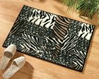 Collections Etc Animal Print Patchwork Accent Rug