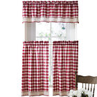 Collections Etc Buffalo Check Primitive Country Curtains