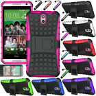 Heavy Duty Rugged Hybrid Hard Impact Stand Case Cover For HTC Desire 610 AT&T
