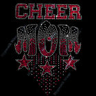 """Rhinestone Transfer  """" Cheer Mom """" CHOOSE YOUR COLOR , Hotfix , Bling"""