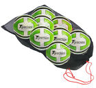 Pack of 8 White Lime Precision Training Santos Footballs and Bag Sizes 3,4,5
