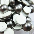 Genuine Swarovski Dark Grey Hotfix Pearl Iron on Crystal Gem Bead 3mm 4mm 7mm