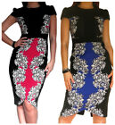 New Womens Dress Bodycon Celeb Party Evening Black Pencil Size 8 10 12 14 16 18