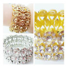Crystal Rhinestones bangle bracelt luxury wide band fashion chunky womens Metal