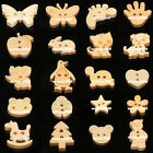 50/100pcs Lovely Shape Cartoon Wooden Buttons Craft Sewing Embellishment Favour