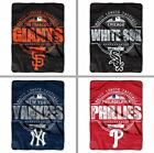 "Choose Your MLB Team 46 x 60"" Structure Series Micro Raschel Throw Blanket by NW"