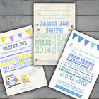Personalised Boys Christening Baptism Invitations Invites