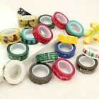 1X Cute Design 10m Long Washi Tape DIY Decor Sticky Stationery Adhesive Sticker