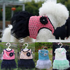 Cute Pet Dog Bling Bling Dress Lace Skirt Cat Princess Clothes Flower Dress Vest
