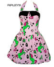 HELL BUNNY Party HEART ZOMBIES Pink DRESS Plus Size Mini All Sizes