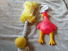 Plush Bone Shape Squeaker Rope Chicken Target Dog Toys Chew Exercise Puppy NEW!