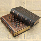 Classic Vintage Black Golden Plaid Faux Leather Framed Notebook Diary Journal