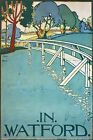 TX371 Vintage In Watford British Travel Electric Railway Poster RePrint A2/A3/A4