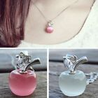 Korean Fashion Women's Jewelry Gifts Crystal Apple Shape Necklace Pendant WUQ029