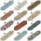 """Fashion 8mm Round Faceted Pretty Fire Agate Jewelry Making Gemstone Beads 15"""""""