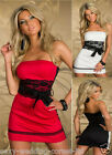 N-131 New Slim sexy lingerie clubwear lace tube dress with free belt size M,L,XL
