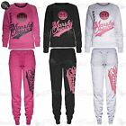 Womens Ladies Marshall and Marshall Original Quilted Gymming Running Tracksuit