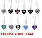NFL Football Team Logo Womens Color Logo Heart Pendant Necklace Pick Your Team $7.99 USD on eBay