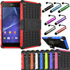 Rugged Impact Armor Hybrid Case Stand Cover Hard Skin For Sony Xperia Z3 D6653