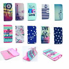 Patterned Magnetic Slot Card Wallet Leather Stand Cover case For Samrt Cellphone