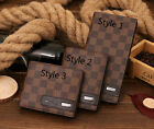 Men's Fashion Classical Plaid Leather Long Wallet Card Packet Fold Purse 3 Style