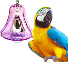 60017 LARGE BULLET PROOF BELL birds toys cages parrot plastic unbreakable safe