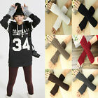 Fashion Wool Glove Arm Warmer Long Fingerless Knit Mitten Winter Unisex Threaded