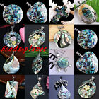 12 Styles 1pc Beauty Abalone Shell Beads Jewelry Charm Pendant For Necklace Gift