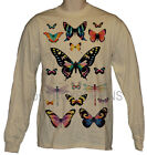 GRAPHIC PRINTED LONG SLEEVE T-SHIRT-INSECTA BUTTERFLY DRAGONFLY BUG INSECT WEAR