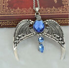 occident fashion antique silver tone eagle harry potter wings crystal necklace