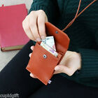 The Basic M Neck Card Case Credit Business ID Holder Pocket Wallet Purse Strap