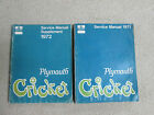 Two Pymouth Cricket Manuals 1971-72  Service Manuals