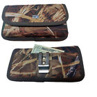 Canvas Camouflage Hunter Horizontal Pocket Case fits iPhone with Otterbox on it.