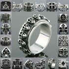 Men's New Heavy Gothic Cool Jewelry Punk Biker Rock Style Stainless Steel Rings