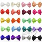 LiNg's Satin Hair Clip Bow Girl's Women's Ribbon Boutique Hair Accessory Hairpin