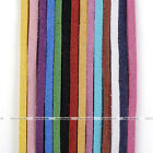 Colors 2-2.5mm Soft Leather Cord Suede Lace Velvet Thread DIY Bracelet Necklace