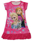 Disney Frozen Elsa & Anna Olaf Children Dress Girls Pajama Nightwear 3-10 H Pink