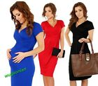 Sexy Maternity Women's Ladies Pregnant Dress Short Sleeve V-Neck Dress Hot Sale