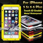 Waterproof Shockproof Metal Aluminum Gorilla Cover Case for iPhone 5 5s 6 6 Plus