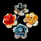 Treasure 3D Flower Colorful Swarovski Rhinestones Ring