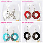 Fashion 28mm Ring Beads Tibetan Silver Dangle Earrings 1 Pair select Seed_Beauty