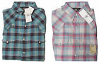 Double Ralph Lauren RRL Mens Western Slim Fit  Blue Pink Flannel Button Shirt XS