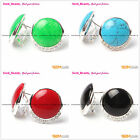 Fashion 24mm Coin Beads Tibetan Silver Stud Earrings 1 Pair Select Seed_Beauty