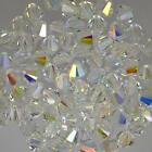 Genuine Swarovski Clear Crystal AB Bicone Crystal Beads